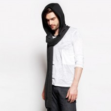 Schoodie Winter - Charcoal Scarf, Black Hood